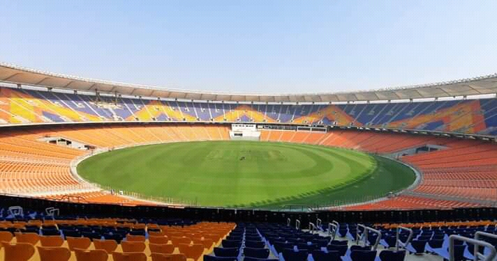 विश्वकै ठूलो क्रिकेट रंगशालामा भारत र इंग्ल्यान्डबीचको तेस्रो टेस्ट