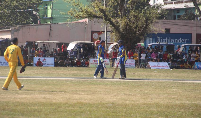 धनगढीमा विद्यालयस्तरीय राष्ट्रिय क्रिकेट प्रतियोगितामा विद्या भूषणको विजयी सुरुवाती